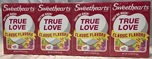 SweetHearts Classic Flavors Conversation Candy, 0.9 Oz (8 ()