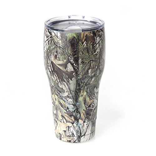 Tahoe Trail 20 oz Stainless Steel Tumbler Vacuum Insulated Double Wall With Lid, Green Camouflage