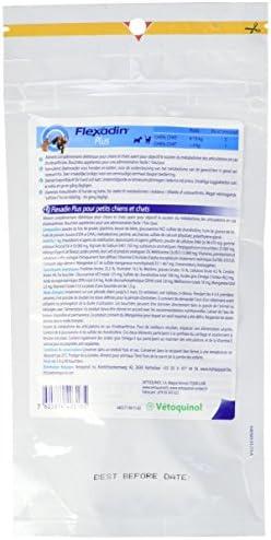 Vetoquinol Flexadin Plus Complément Alimentaire pour Chat/Chien moins de 10 kg 90 Bouchées