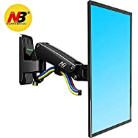 North Bayou TV Monitor Wall Mount Bracket Full Motion Articulating Swivel for 17-27 Inch Display Monitor with Gas Spring