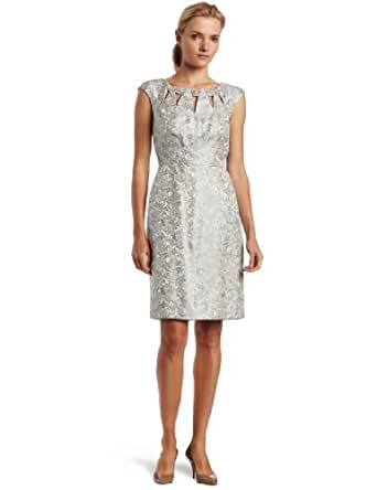 Jax Women's Jacquard Dress, Ice, 6