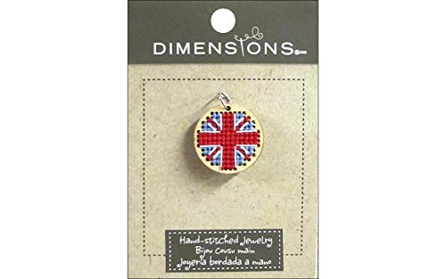 Dimensions Crafts 72-74090 Circle Union Jack Finished Pendant, Small