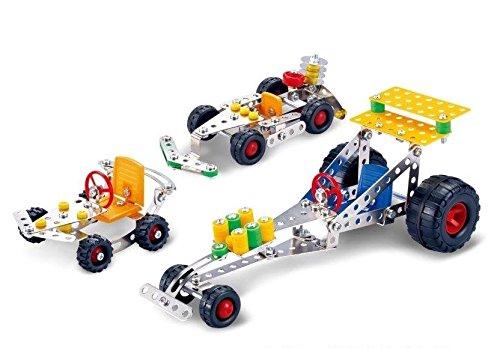 UPC 601202449651, Lightahead Assembly Metal 3 Vehicle Models Kits Toy Car to Assemble. Puzzles Set for Kids, 291 pcs metal blocks