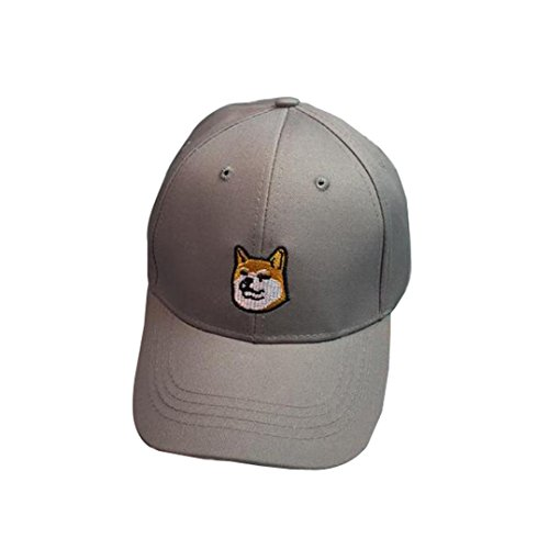 OutTop Unisex Dog Baseball Cap Snapback Caps Hip Hop Hats (Gray)
