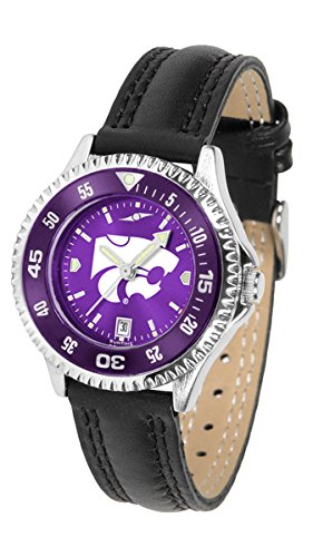 (Kansas State Wildcats Competitor AnoChrome Women's Watch - Color Bezel)