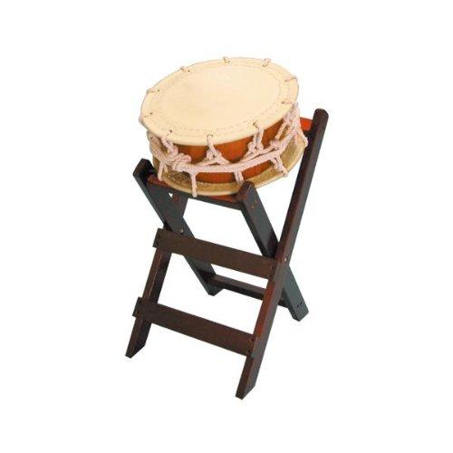 締太鼓35cm(ひも締めあわせ胴) 子ども用立台座セット   B00IP24VDW