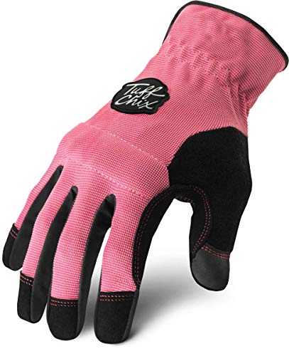 - Ironclad Tuff Chix Women's Work Gloves TCX, Designed for Women's Hands, Performance Fit, Durable, Machine Washable, Sized S, M, L, XL (1 Pair)