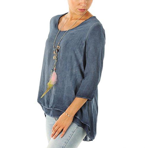 Mujer Camisas Para H4f Blau Indigo Ex1qwx0z