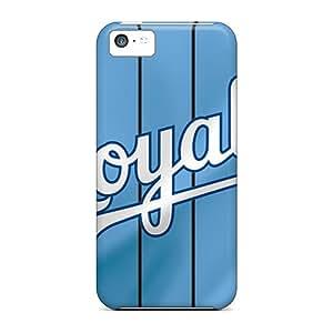Bumper Hard Cell-phone Cases For Iphone 5c (VnE9537EEsi) Unique Design Attractive Kansas City Royals Image