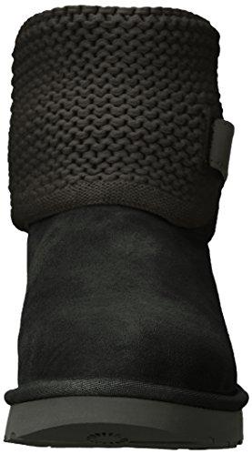 UGG Women's Shaina Slip on Slipper, Black, 8 M US by UGG (Image #4)
