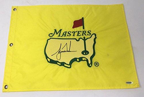 TIGER WOODS Autographed 1997 Authentic Original Masters Tournament Flag ()