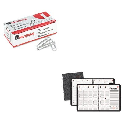Weekly Range A-glance 800 - KITAAG7086405UNV72220 - Value Kit - At-a-Glance Recycled 800 Range Weekly/Monthly Appointment Book (AAG7086405) and Universal Smooth Paper Clips (UNV72220)