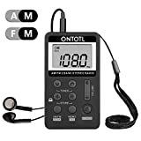 AM FM Pocket Radio,ONTOTL Personal Radio Portable Mini Digital Tuning with Rechargeable Battery and Earphone, AM/FM Stereo Radio for Jogging/Walk [Newest 2018]