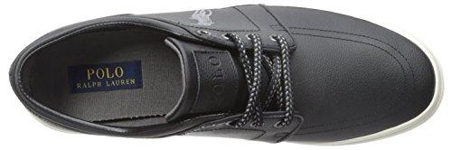 Polo Ralph Lauren Manar Faxon Läder Mode Sneaker Svart