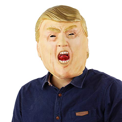 Trump Mask Scary Halloween Costumes Props Monster Party Adult Men's Latex Mask Novelty (Latex Scarecrow Mask)