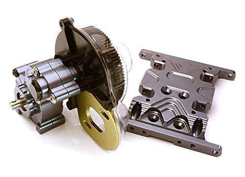 - Integy RC Model Hop-ups C24742GUN Billet Machined Main Gearbox w/Metal Gears for Axial SCX-10 Honcho Jeep & Dingo