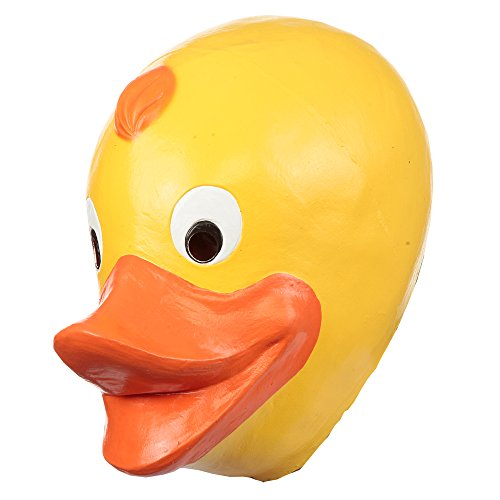 - Ghoulish Productions Funny Rubber Duck Adult Latex Mask Ducky Yellow Quacky