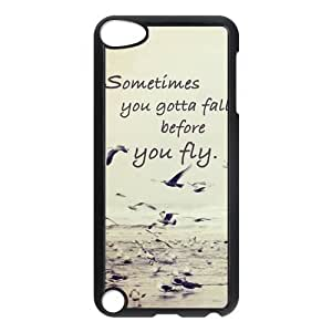 Be Free Birds Quote Protective Hard PC Back Fits Cover Case for iPod Touch 5, 5G (5th Generation)