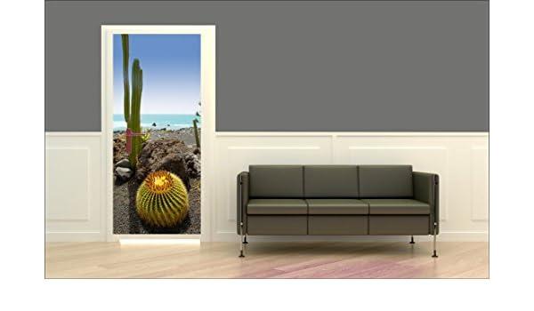Papel Pintado Para Puerta Cactus 2: Amazon.es: Hogar