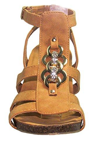 Tan 6 D Womens Forever 41 Yoli sandals M US wedges Uxw7qtw4