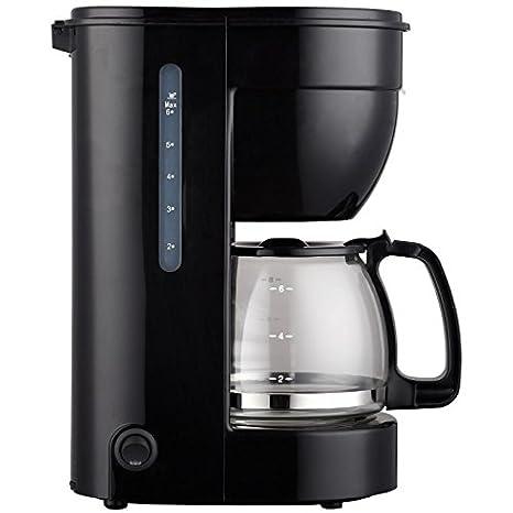 Cafetera eléctrica 0.75l, 6 tazas, jarra de cristal, ERP. THULOS ...