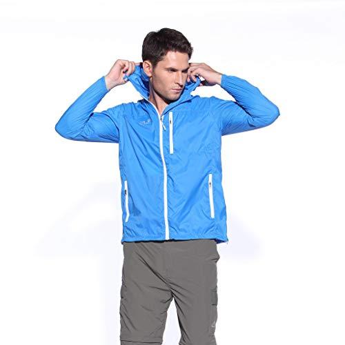 ZZRWOMEN❤❤Women Raincoat Waterproof Jacket Lightweight Coats Vacation Riding Skin Windbreaker Sun Protection Clothing Blue