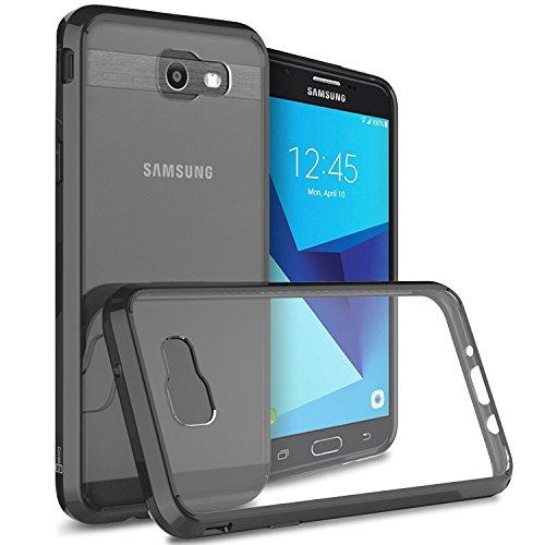 Galaxy J7 V Case, Galaxy J7 2017 Case, Galaxy J7 Sky Pro Case, Galaxy J7 Perx Case, CoverON [ClearGuard Series] Hard Back Slim Cover for Samsung Galaxy J7 Perx / J7 Sky Pro / J7 2017 / J7V Black