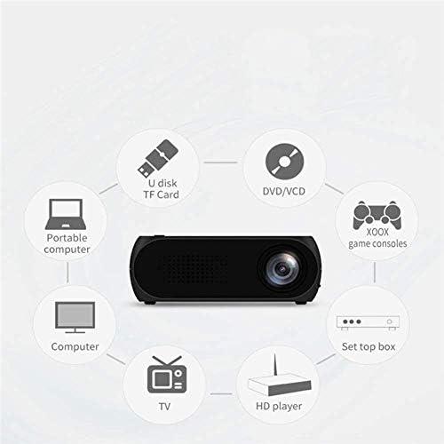 LEDミニプロジェクターHD 1080Pホームビデオビーマーシネマプロジェクターステレオスピーカー内蔵30 000時間LEDランプ寿命HDMI / AV/TF/USBと互換性 Perfect