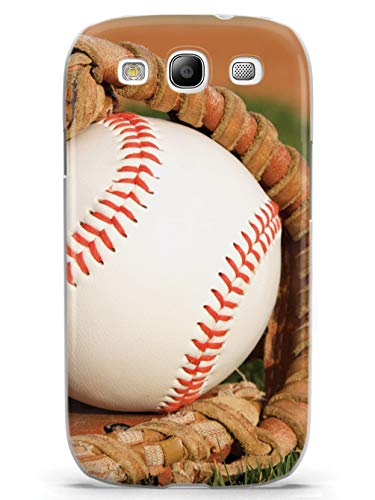 Inspired Cases - 3D Textured Galaxy S3 Case - Protective Phone Cover - Rubber Bumper Cover - Case for Samsung Galaxy S3 - Baseball in Glove on The Field Case (Baseball Samsung Galaxy S3 Case)
