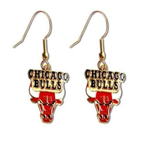 Earring Bulls Chicago - aminco Chicago Bulls Dangle Logo Earring Set Nba Charm Gift