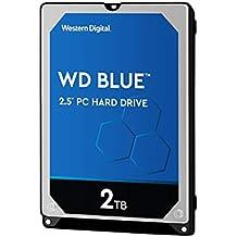 """WD Blue 2TB PC Hard Drive - 5400 RPM Class, SATA 6 Gb/s, 128 MB Cache, 2.5"""" - WD20SPZX"""