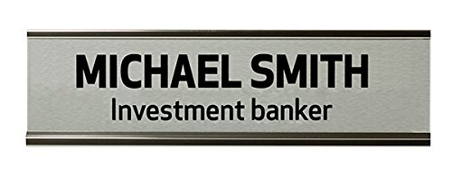 TMBSilver 2''x8'' Wall Sign,Inkjet by The Mighty Badge
