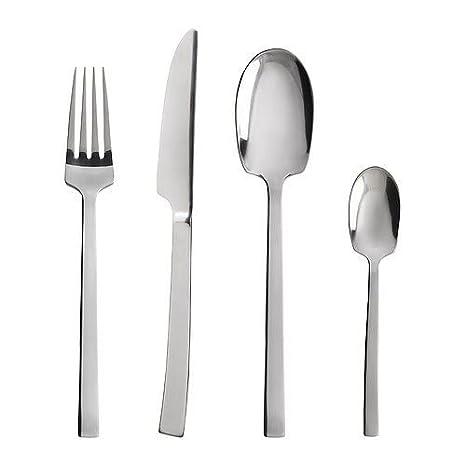 - SMAKGLAD 24 piezas Cubertería de acero inoxidable: IKEA of Sweden: Amazon.es: Hogar