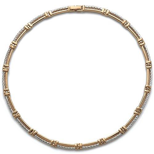 Collier en Plaqué Or 2 Tons : Câble - Bijoux Femme