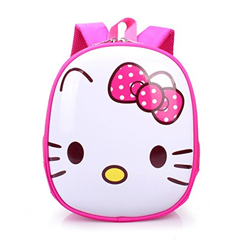 YOURNELO Kid's 3D Mini Cute Cartoon Hard Surface Rucksack School Backpack Bookbag (Hello Kitty)