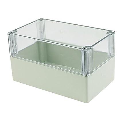 eDealMax 200 x 120 x 113 mm cubierta transparente caja sellada a prueba de agua Junction