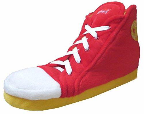 Unisex Pantoffeln im Stile eines Baseballschuhs für Erwachsene Rosso (rossa / giallo)