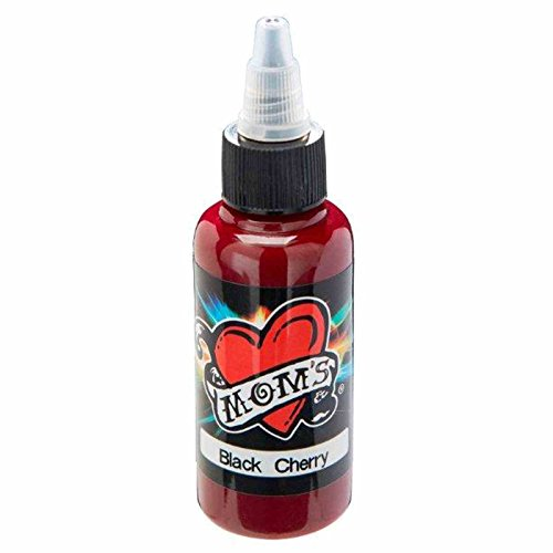 Tattoo Cherry (BLACK CHERRY Millennium Moms 1oz Tattoo Ink 1 oz Mom's)