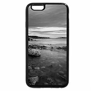 iPhone 6S Case, iPhone 6 Case (Black & White) - purple beach