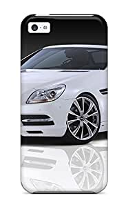 AnnaSanders Design High Quality White Slk Front Angle Benz Cars Mercedes Cover Case With Excellent Style For Iphone 5c