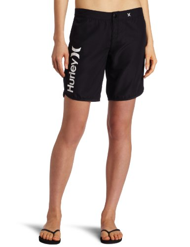Hurley Juniors Supersuede Beachrider 9 Inch Boardshort, Black, 1