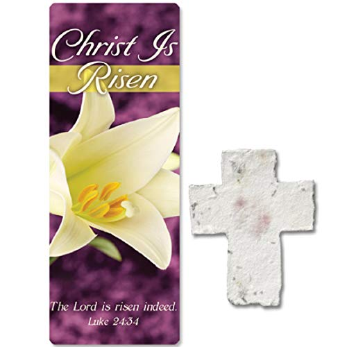 Christ is Risen Plantable Seed Cross & Bookmarks - 10 Pack