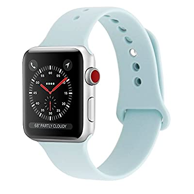 SHIELDA Silicone Sport Strap Replacement Band for Apple Watch Series 3/2/1