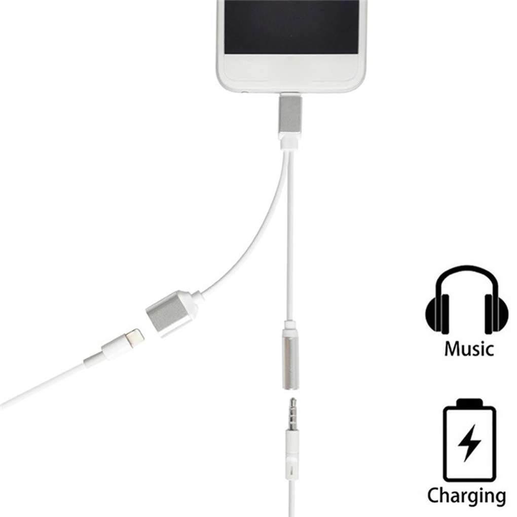 Aiming pour iOS 10.3 Un Peu Plus t/ôt iPhone 7 Charing///écoute Musics 2 en 1 Adaptateur Double /à 3,5 mm pour Casque Audio Charing c/âble