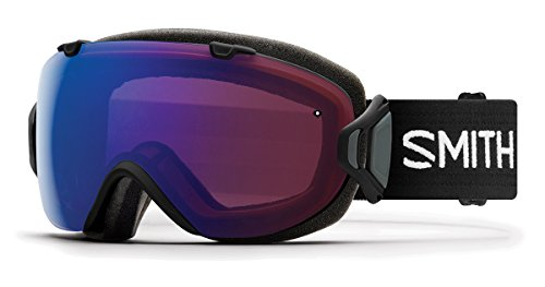 Smith Optics Womens I/OS Snowmobile Goggles Black / ChromaPop Photochromic Rose Flash by Smith Optics