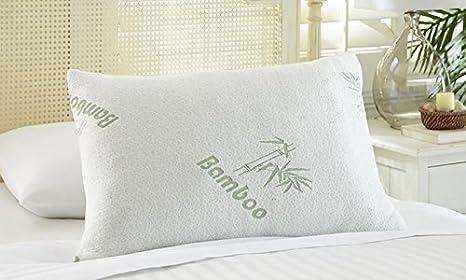 Linen Empire Ltd - Almohadas de Espuma de Poliuretano con Relleno de bambú Antibacteriano, para Espalda y Cuello: Amazon.es: Hogar
