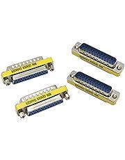 DB25-adapter YAODHAOD 25-stifts hane till hona seriell port DSUB-kopplingsadapter – DSUB – RS232 – D25 – kabelomvandlare – portadapter (DB25 M/F)