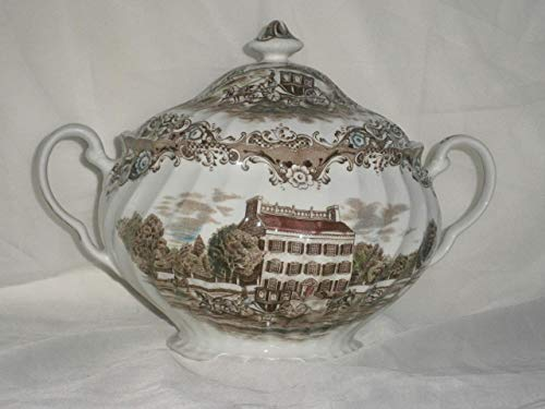 Johnson Brothers HERITAGE HALL Soup Tureen Brown MultiColor (Multi Color Tureen)
