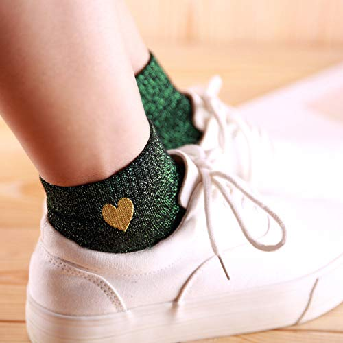 Amazon.com: Blue Stones Women Glitter Socks Women Girls Harajuku Kawaii Love Heart Ankle Socks Low Cut Short Sock Candy Color Funny Cute Socks: Kitchen & ...
