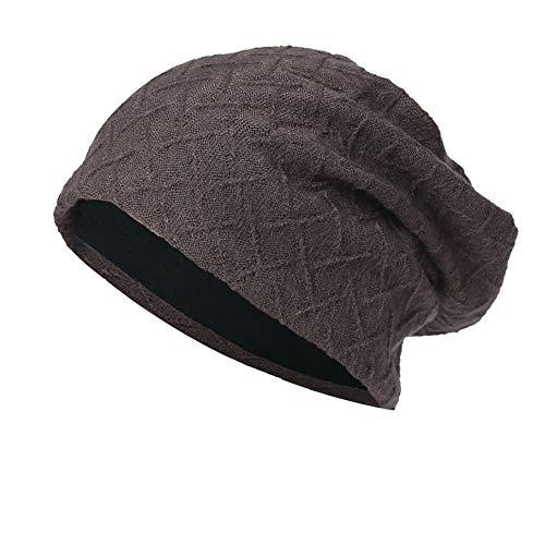 New Knit Beanie for Women & Men Hot Sale DEATU Hedging Head Hat Headwear Cap Warm Outdoor Hat(A-Coffee)
